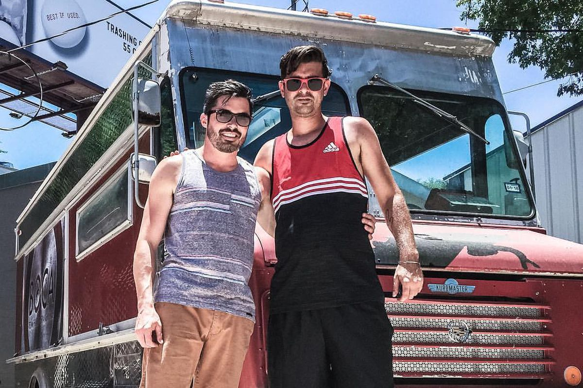 Patrick Armstrong and Clayton Young of Boca food truck