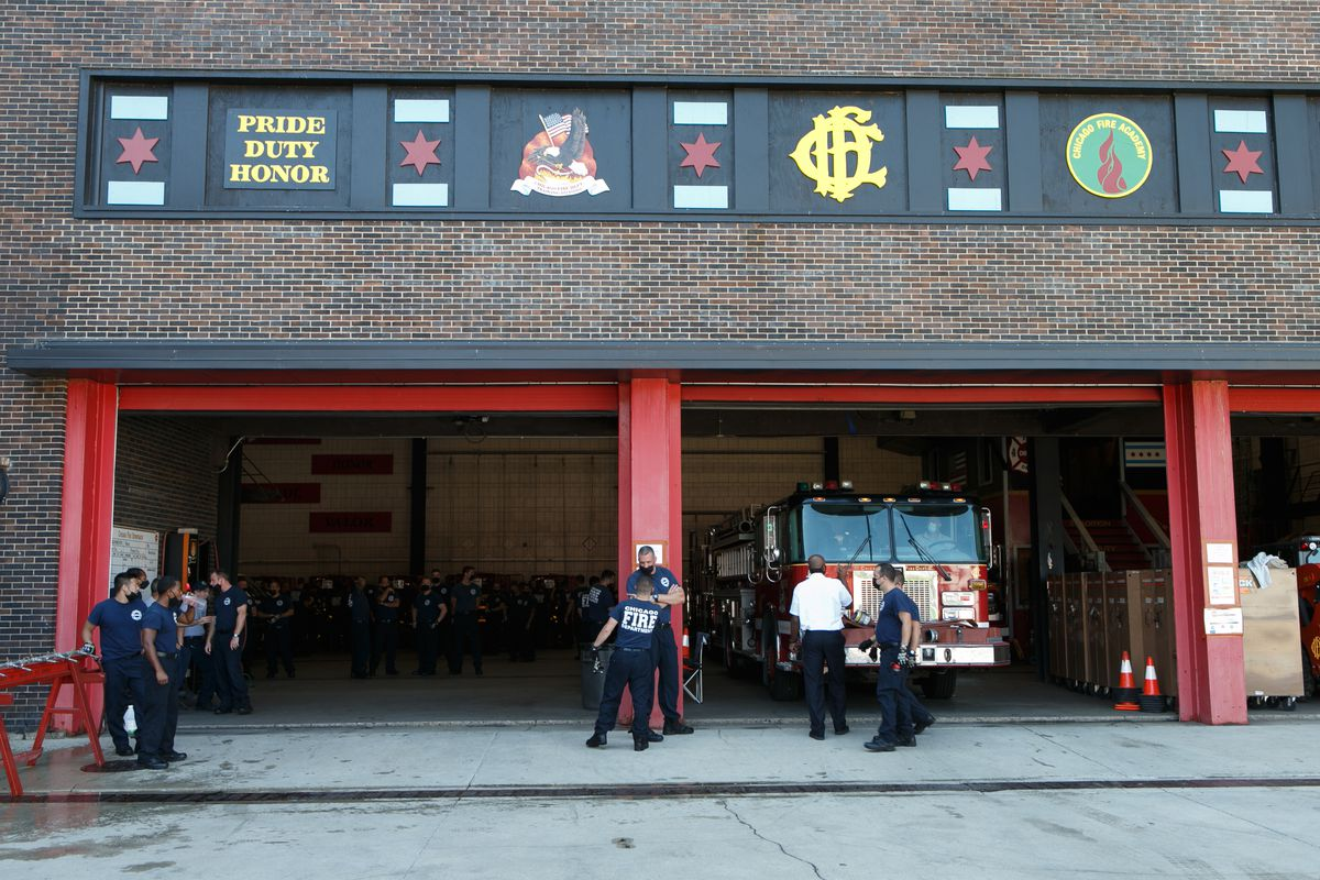The Chicago Fire Department's training academy, 558 W. DeKoven St., now stands where the Great Chicago Fire started.