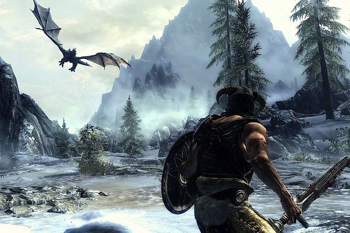 Skyrim Dragon: 'Skyrim' With Kinect: We Try Shouting At Some Dragons