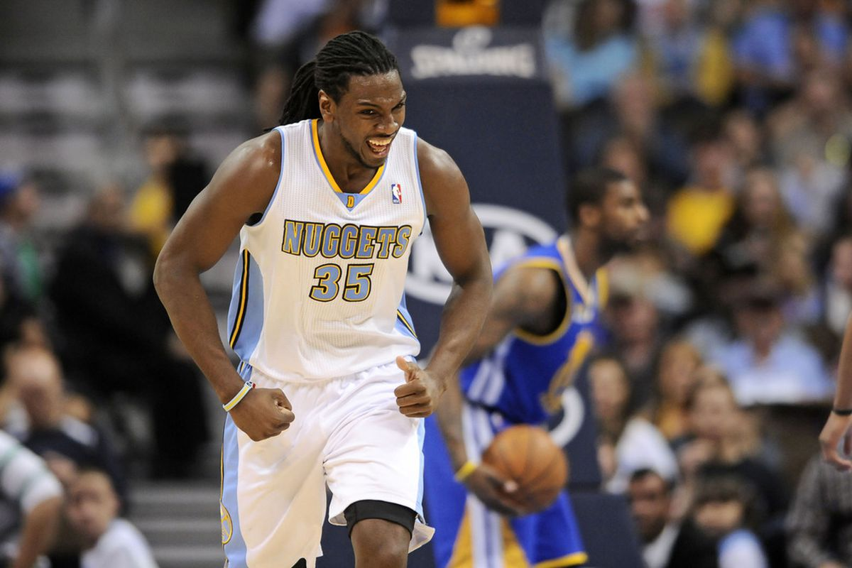 Kenneth Faried and the Nuggets were all smiles on Monday night.