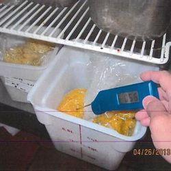Food held at improper temperatures.