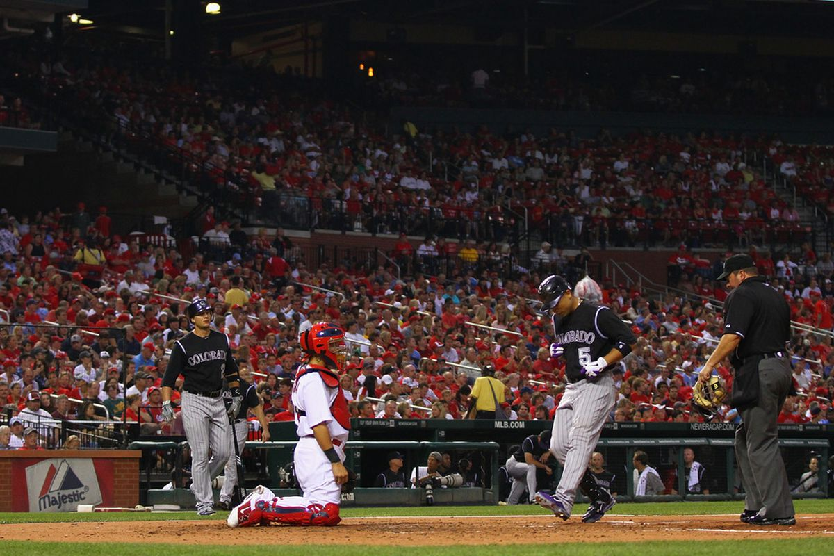 Would it be in the Rockies' best interest for Corlos Gonzalez to be hitting home runs at Busch Stadium next year?