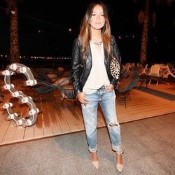 """Julie of <a href=""""http://www.sincerelyjules.com/"""">Sincerely, Jules</a> is wearing a Mango blouse, Denim & Supply Ralph Lauren jeans, an <a href=""""http://www.aninebing.com/products/leather-biker-jacket"""">Anine Bing</a> jacket, <a href=""""http://piperlime.gap.c"""