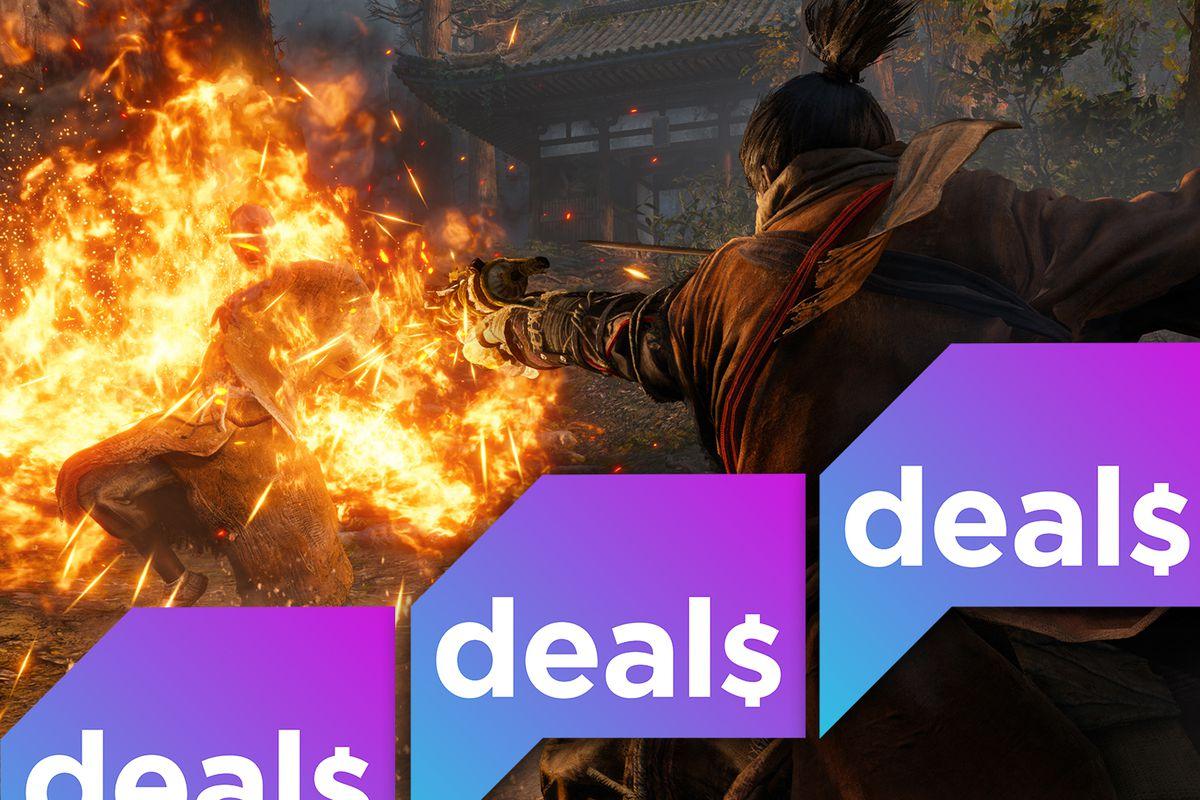 Sekiro: Shadows Die Twice screenshot + Polygon Deals logo