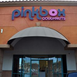 Pink Box Doughnuts nears completion.