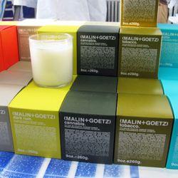 A sampler of candles at Malin + Goetz