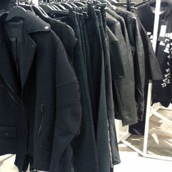 There are plenty of men's outerwear and sweaters in WeHo, but in limited sizing.