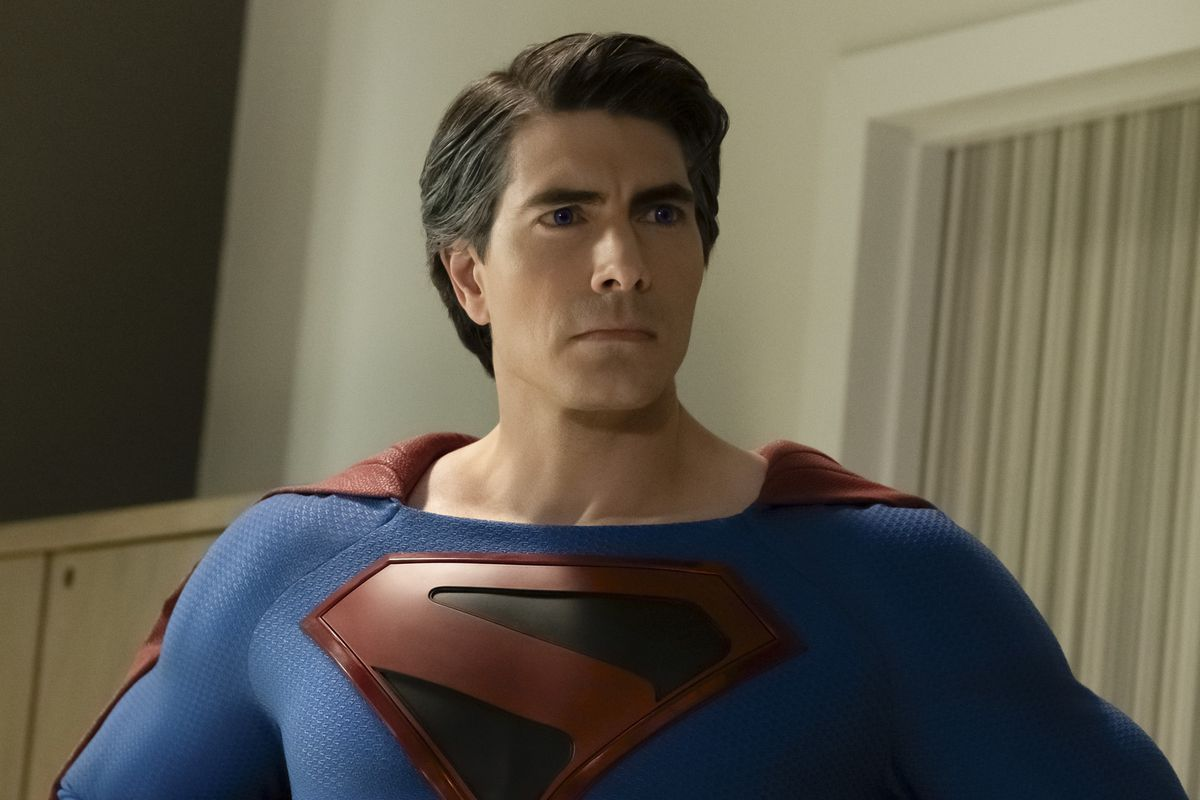 Brandon Routh as Superman in the CW's Crisis on Infinite Earths crossover.