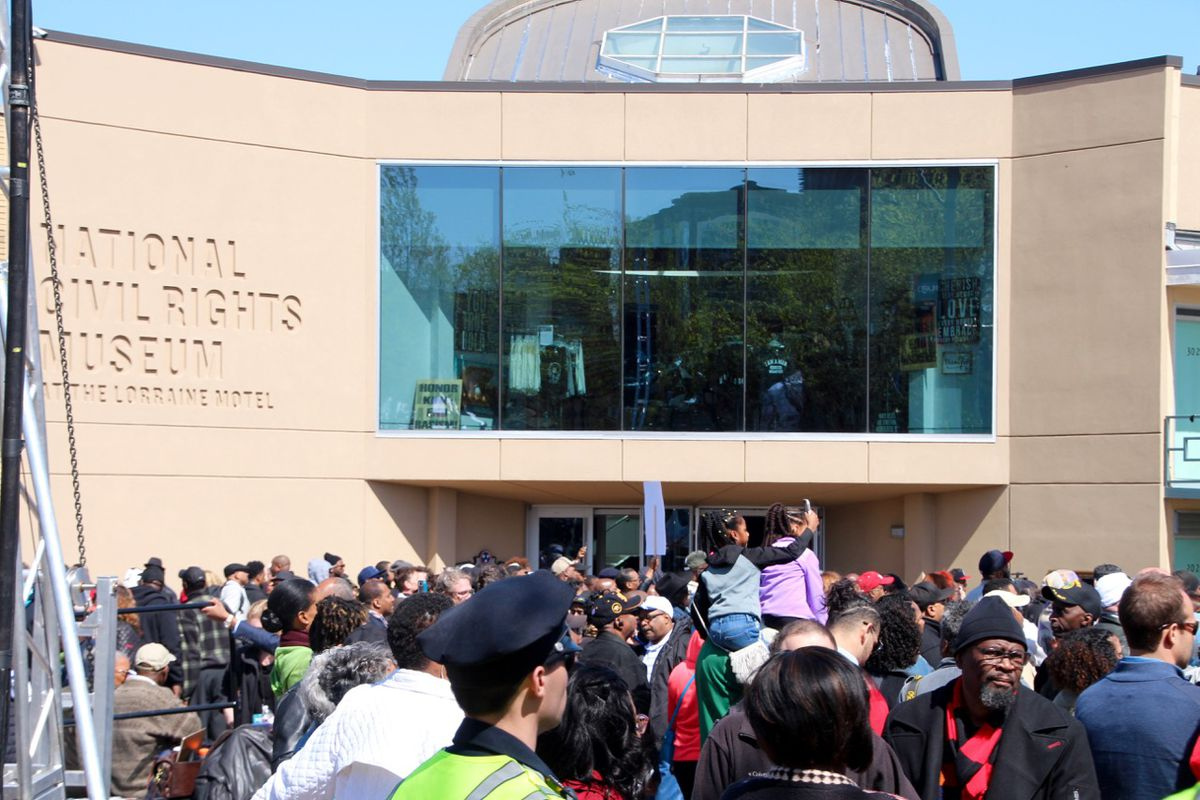 Hundreds, including Memphis students, gathered outside of the National Civil Rights Museum on Wednesday to honor the life of Martin Luther King Jr.