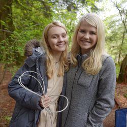 """Alana Boden, left, and Elizabeth Smart on the set of """"I Am Elizabeth Smart."""""""