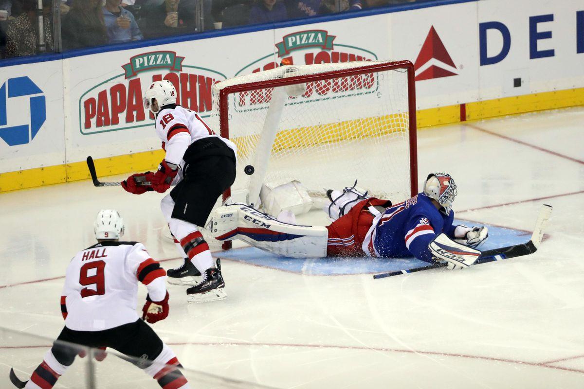 NHL: New Jersey Devils at New York Rangers