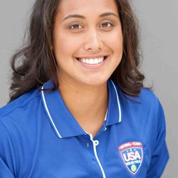 Tumua Anae, a goalie for the USA water polo team, is a candidate for the U.S.'s 2012 Olympic team.