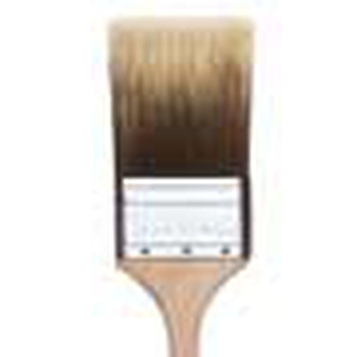 chisel-tip paintbrush