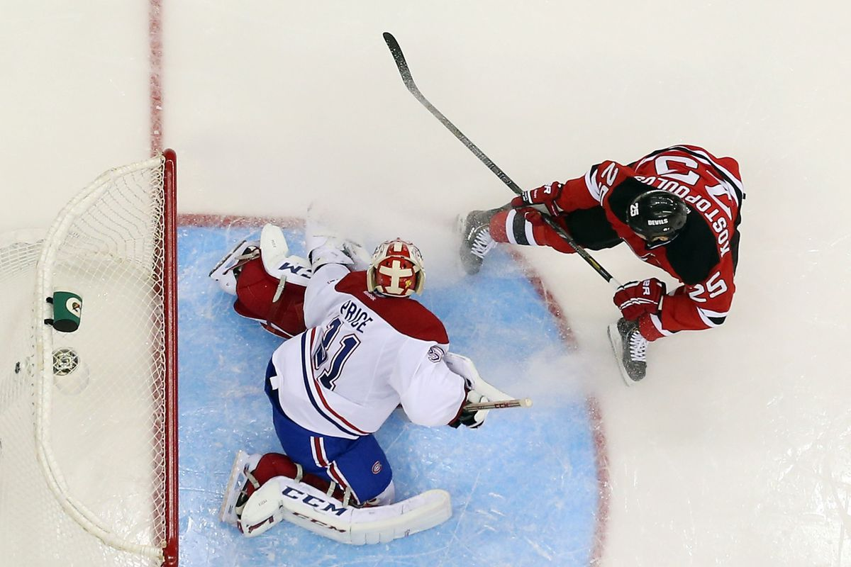 Carey Price, doing work because most of his team lost the possession battle overall at evens.