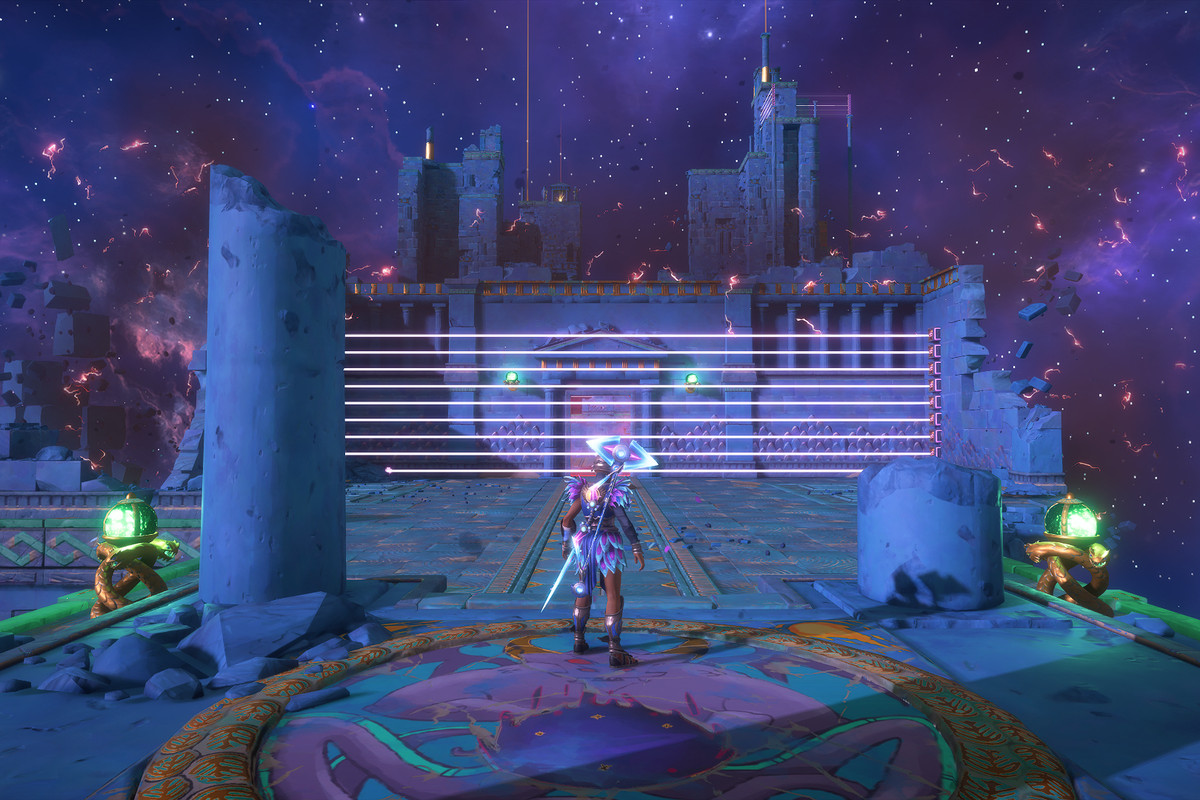 The entrance to the  Mastering Athena's Dash Vault of Tartaros in Immortals Fenyx Rising