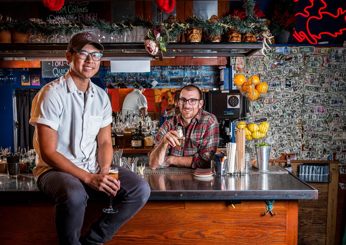 Hot Lola's chef Kevin Tien, left, and Service Bar co-owner Chad Spangler