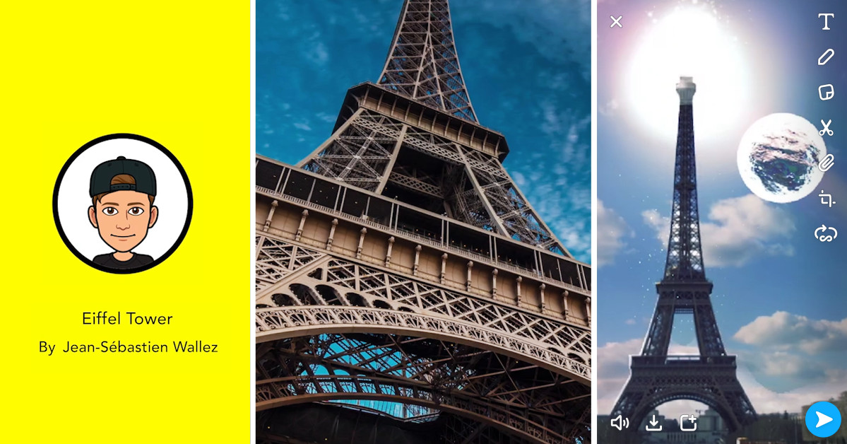 Snapchat's New Landmarkers will Make the Eiffel Tower Puke Rainbows