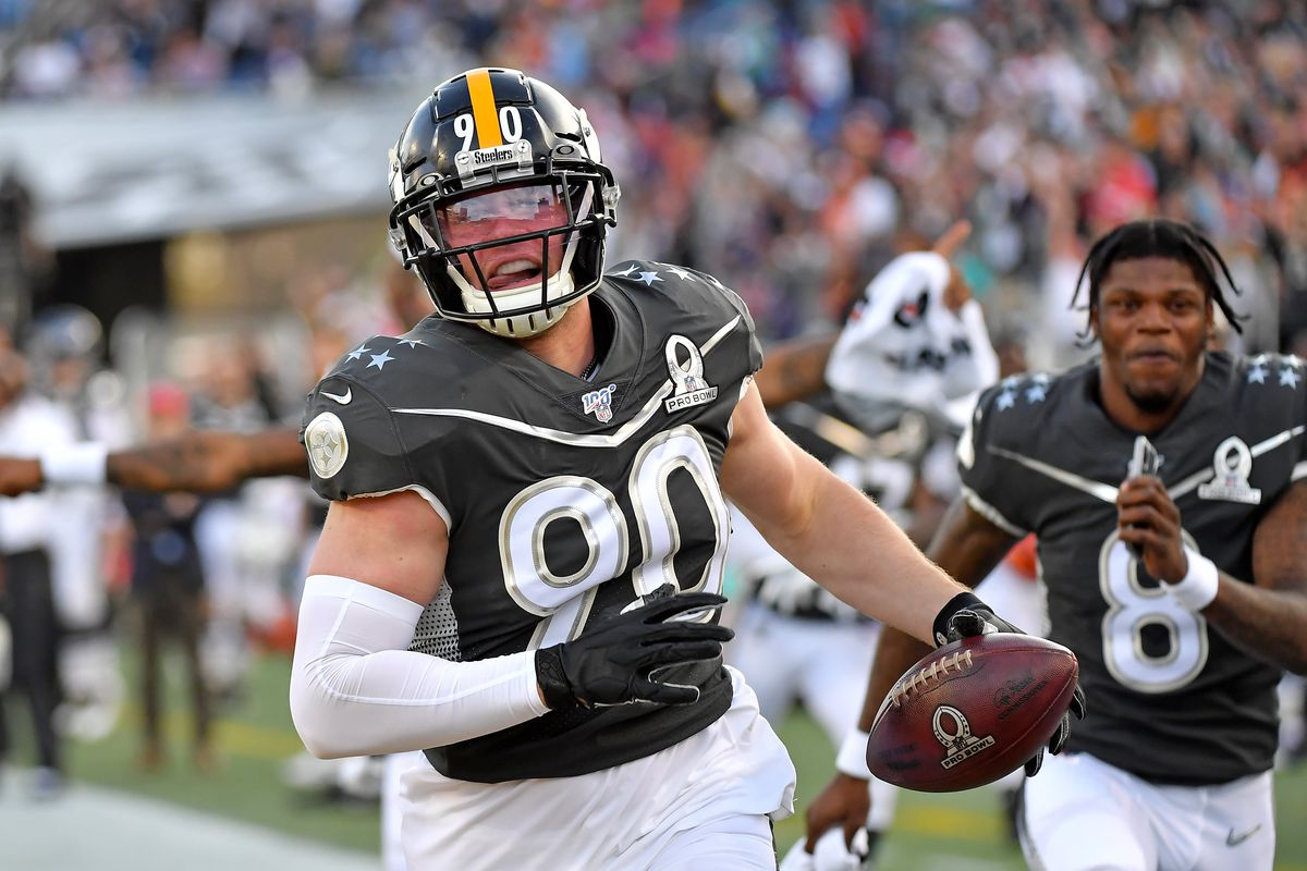 T J Watt Shows His Big Play Ability At The 2020 Pro Bowl With Td Behind The Steel Curtain