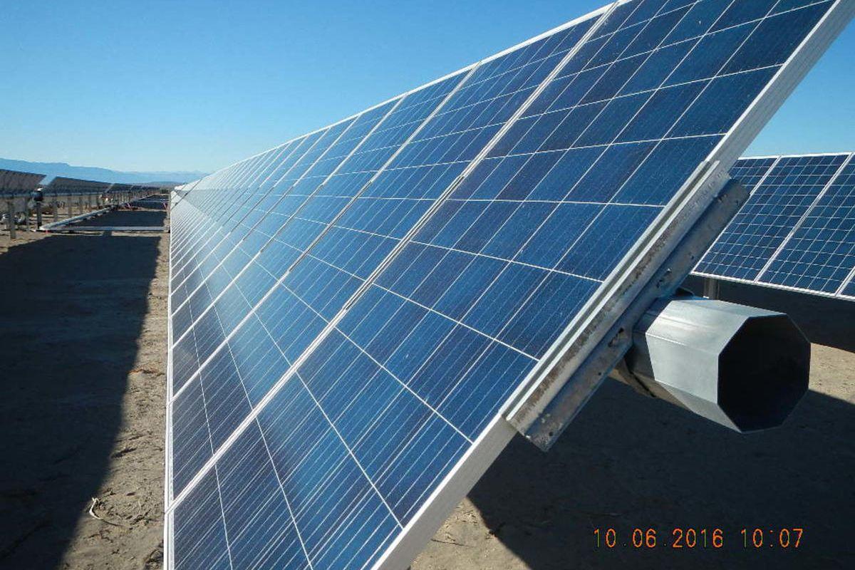 The Rocky Mountain Power solar plant near Holden, Utah.