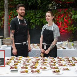 Huxley's Sara Hauman offered corned beef tongue with house pickles.