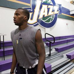 Shelvin Mack, Butler, leaves the court  after working  out for the Jazz in Salt Lake City  Sunday, May 29, 2011. In preparation for the 2011 NBA Draft, the Utah Jazz held pre-draft workouts for six players at Zions Bank Basketball Center.