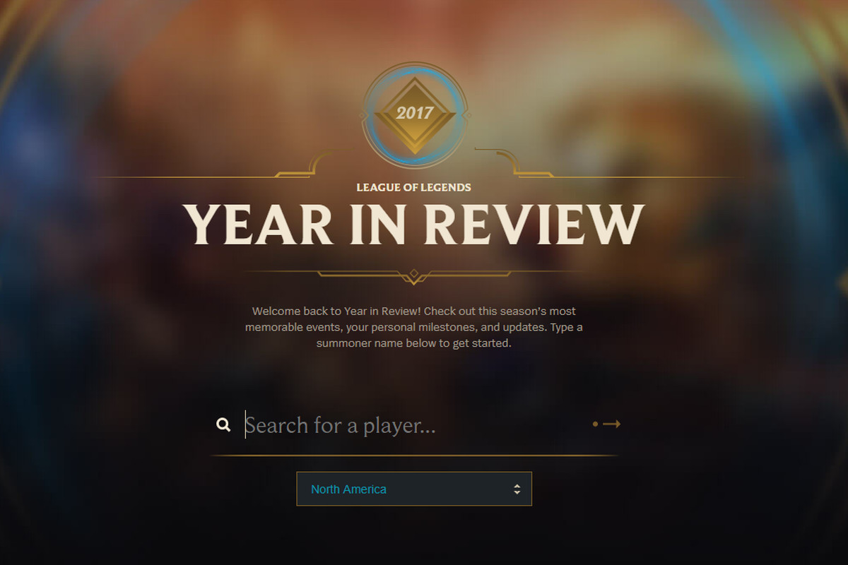 kvalitetsdesign officielt sted køb billigt Check out your League of Legends year in review - The Rift ...