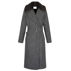 """Sandro 'Marieta' long belted wrap coat, <a href=""""http://us.sandro-paris.com/marieta-long-belted-wrap-coat.html?___store=sandro"""">$422.50</a> (was $845)"""