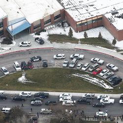 Pleasant Grove High School was placed on lockdown Thursday, Dec. 3, 2015. A report of a man with a gun in the building turned out to be false.