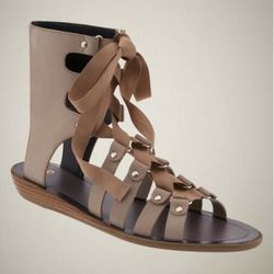 """Laced sandals, $69.50, from <a href=""""http://www.gap.com/browse/product.do?cid=34761&vid=1&pid=838542"""" rel=""""nofollow"""">The Gap</a>"""