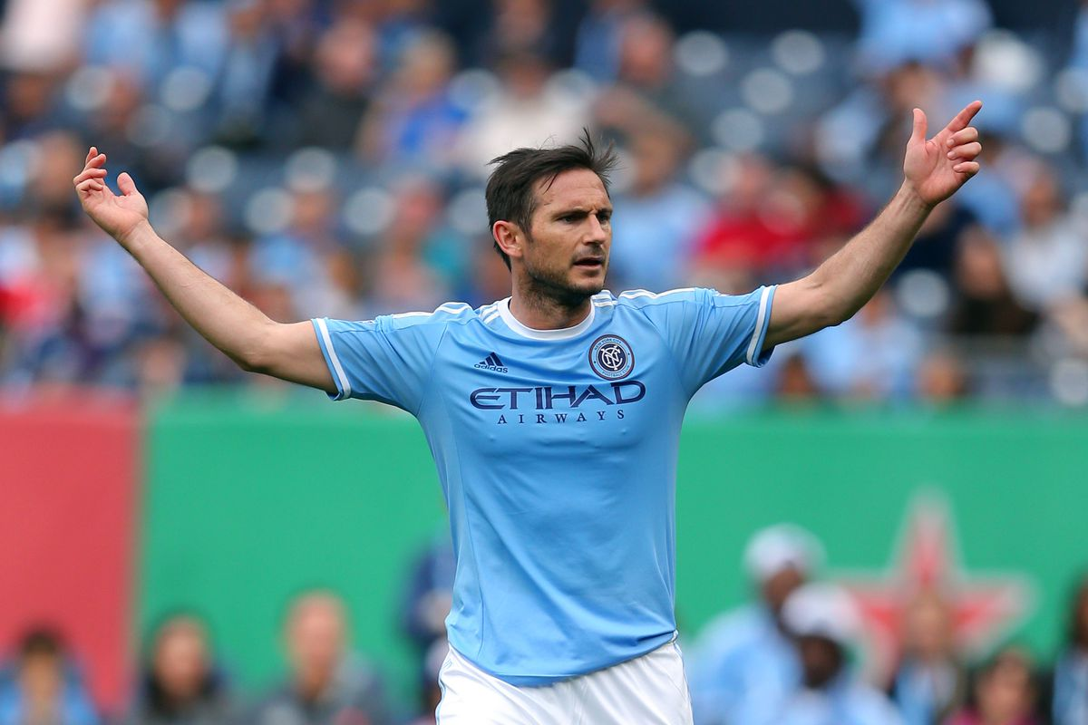 Lampard subbed on in the 75th minute with NYCFC down 5-0 to NYRB last weekend, the game ended 7-0.