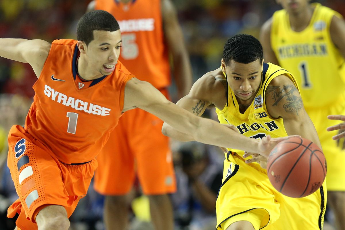 Michigan Vs Syracuse 2013 Final Four Scores Wolverines Advance To