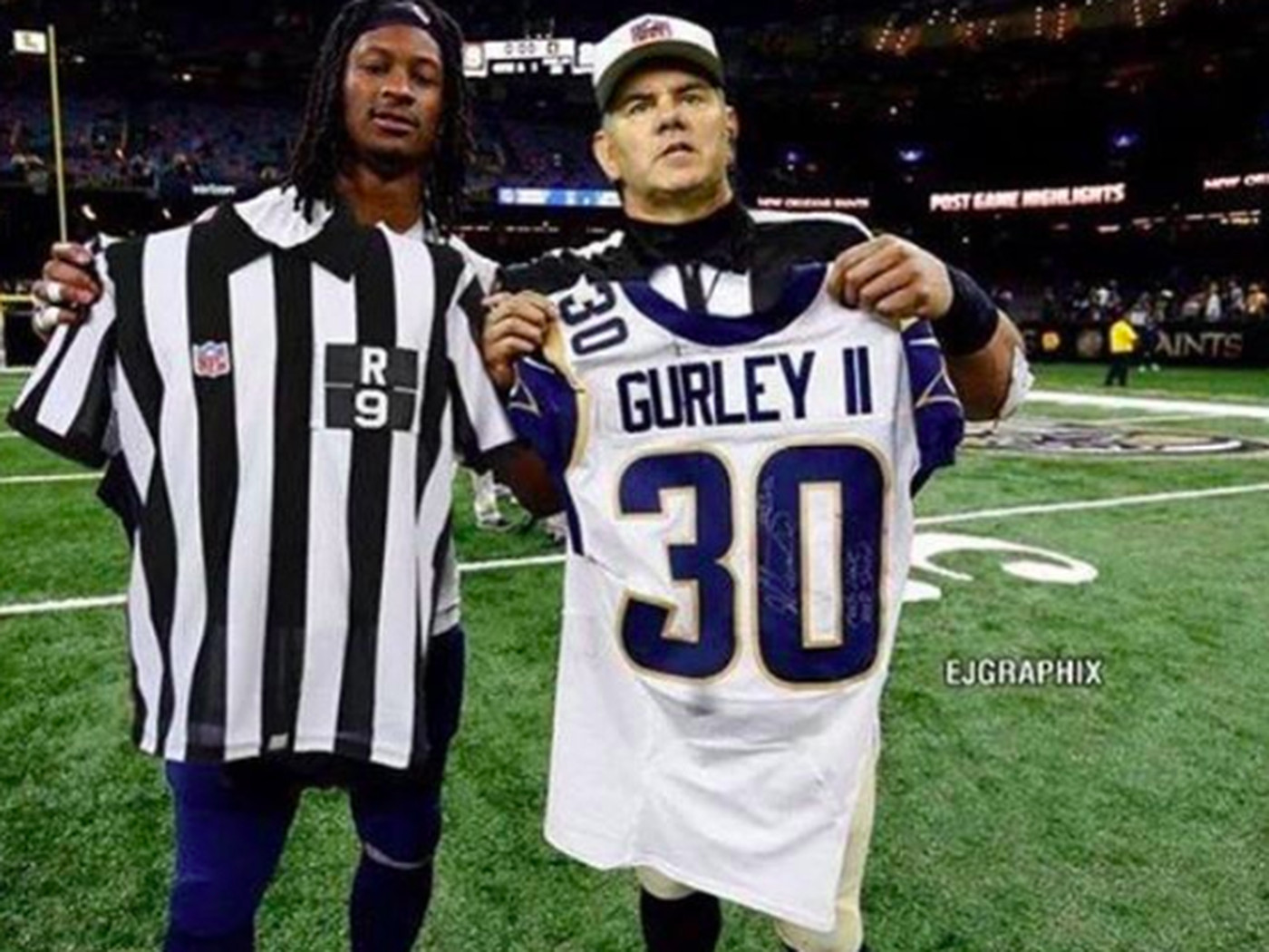 e797864b620 Todd Gurley s fake photo with a ref tricked Mike Francesa and others -  SBNation.com