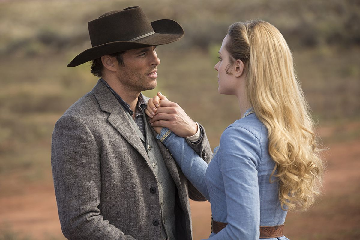 Dolores and Teddy in HBO's Westworld