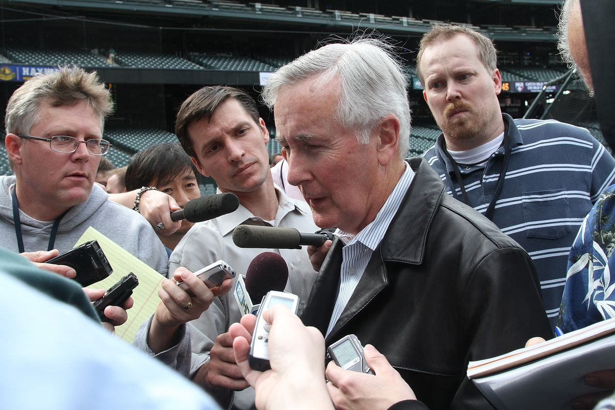 Former Mariners CEO Howard Lincoln. That felt good to say.