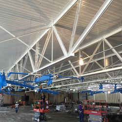 Wide View of Baskets Installation at HSS Center