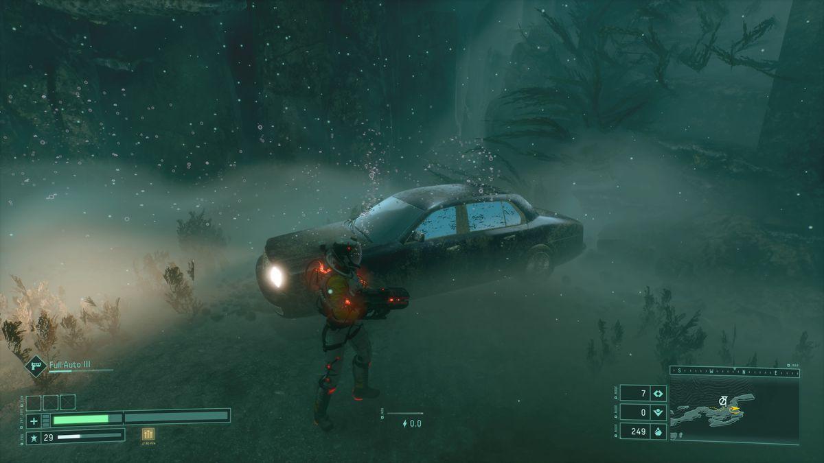 The sedan under the ocean in Returnal