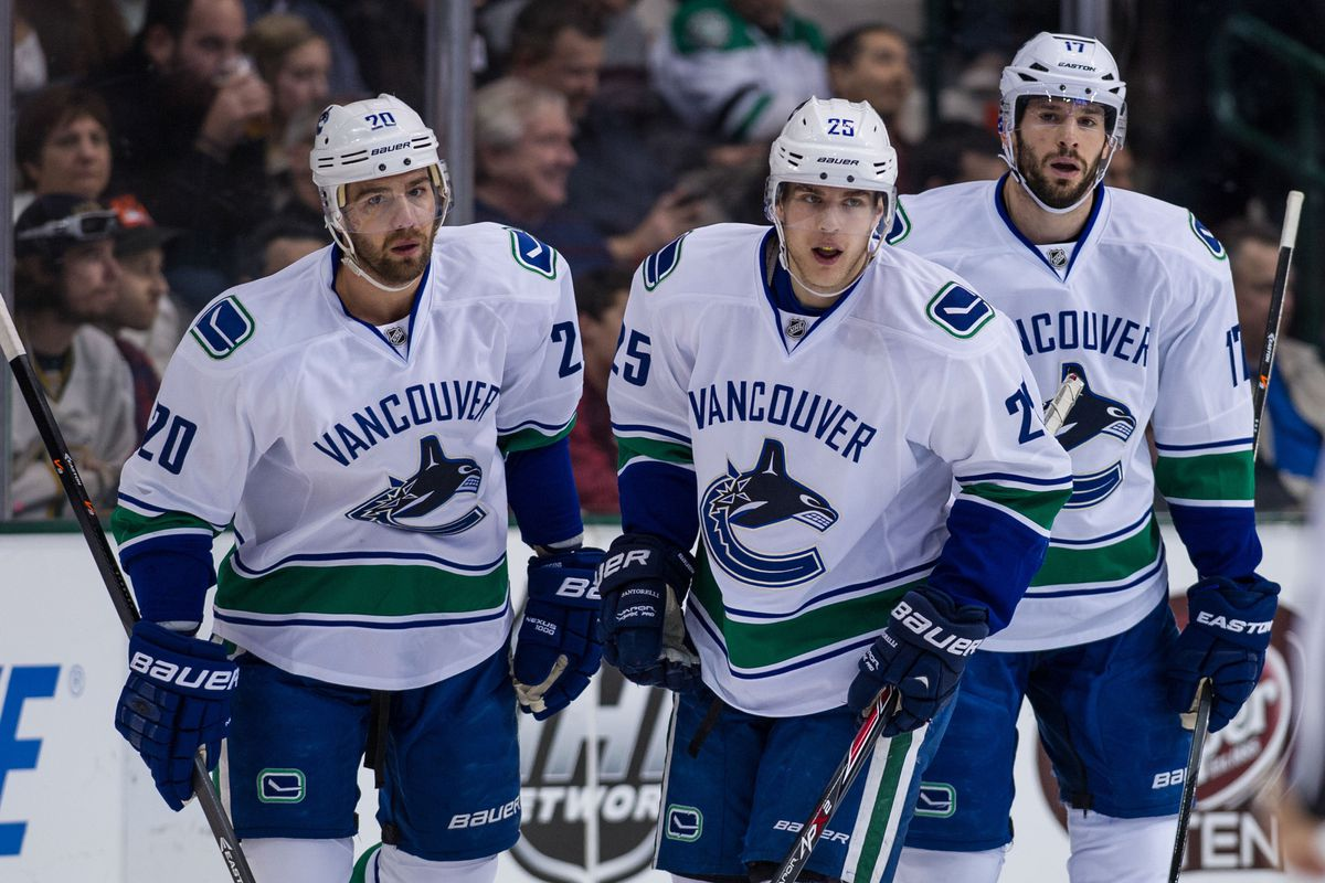 You will see these guys' names pop up frequently for the Canucks' offensive stats.