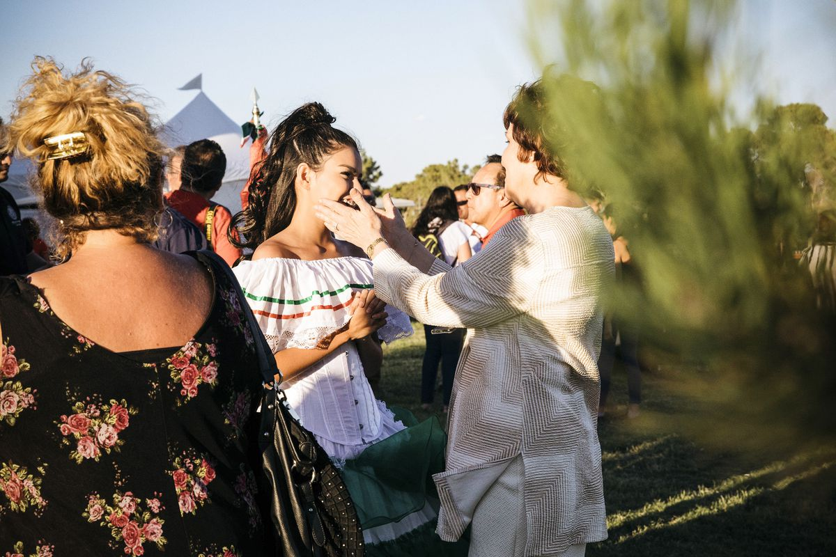 Congresswoman Jacky Rosen speaks with guests at the Fiesta Las Vegas Festival - Hispanic Heritage Month Kickoff at Craig Ranch Regional Park in North Las Vegas, Nev. on September 15, 2018.