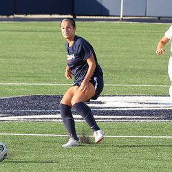 UConn's Lucy Cappadona #4 during the New Hampshire Wildcats vs the UConn Huskies exhibition women's college soccer game at Morrone Stadium at Rizza Performance Center in Storrs, CT, on Saturday August 14, 2021.