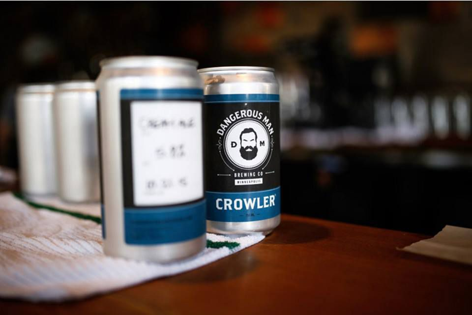 """A crowler of Peanut Butter Porter says, """"I love you enough when we're drinking."""" Photo by Dangerous Man Facebook page"""