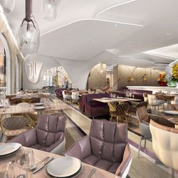 Rendering of the Lago dining room