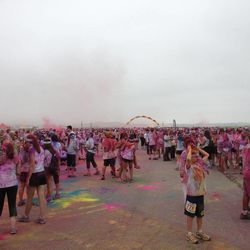 The finish area of The Color Run 5K.