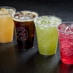 citrus, coffee, green, and cranberry ginger soda