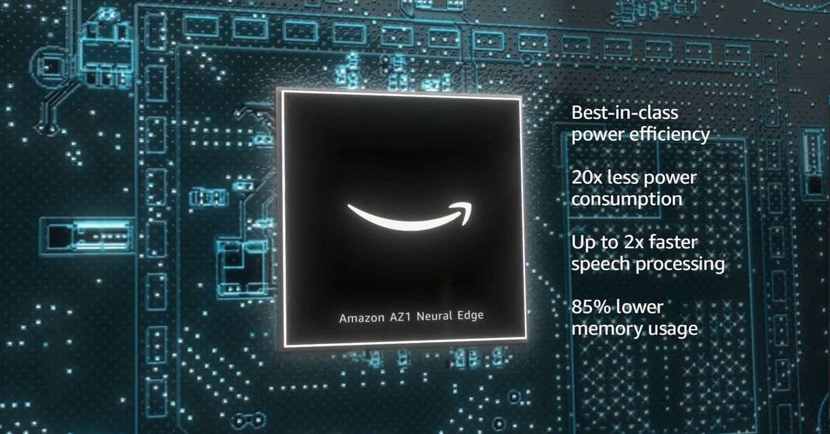 Amazon unveiled the AZ1 Neural Edge processor, a silicon module it made with MediaTek to allow for on-device neural speech recognition in its new Echo devices