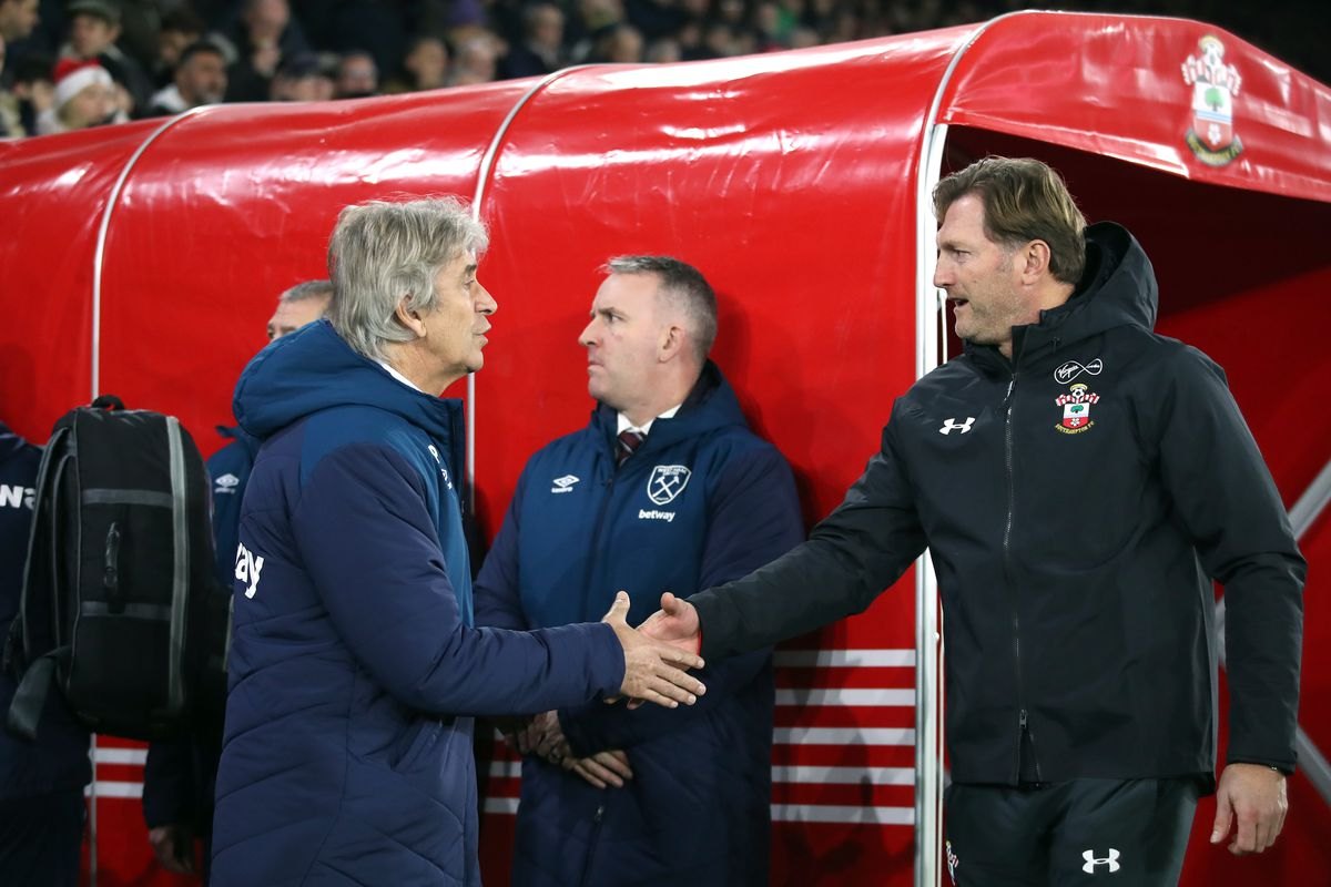 Southampton play West Ham United in the Premier League at St. Mary's today Ralph Hasenhuttl Manuel Pellegrini Danny Ings team news, score, how to watch and stream live for free