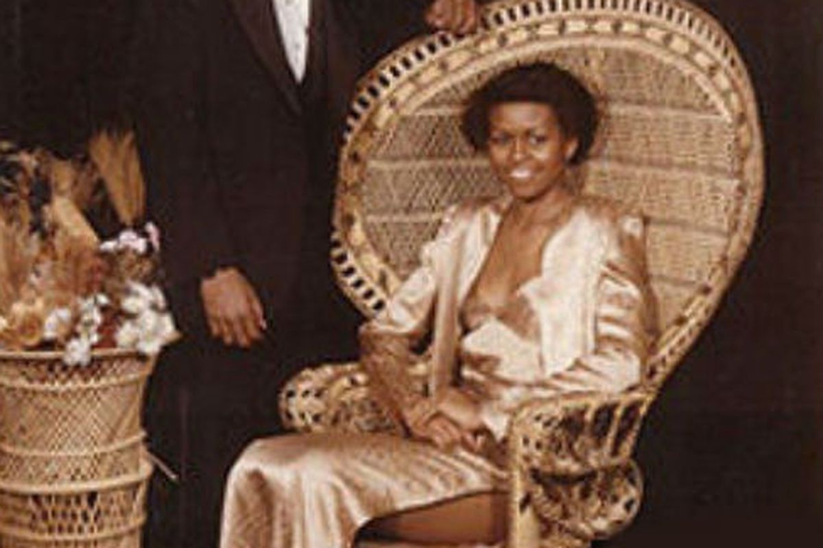 This is what Michelle Obama wore to her prom in 1982, as revealed on the Ellen DeGeneres show