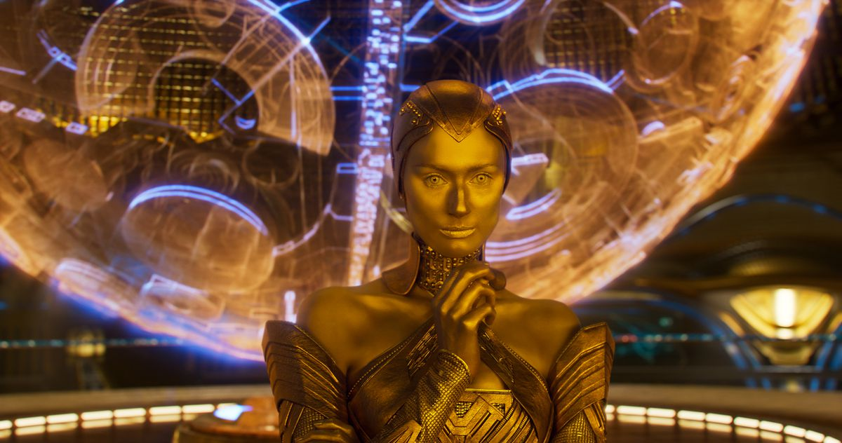 Ayesha of the Sovereign, in Guardians of the Galaxy Vol. 2