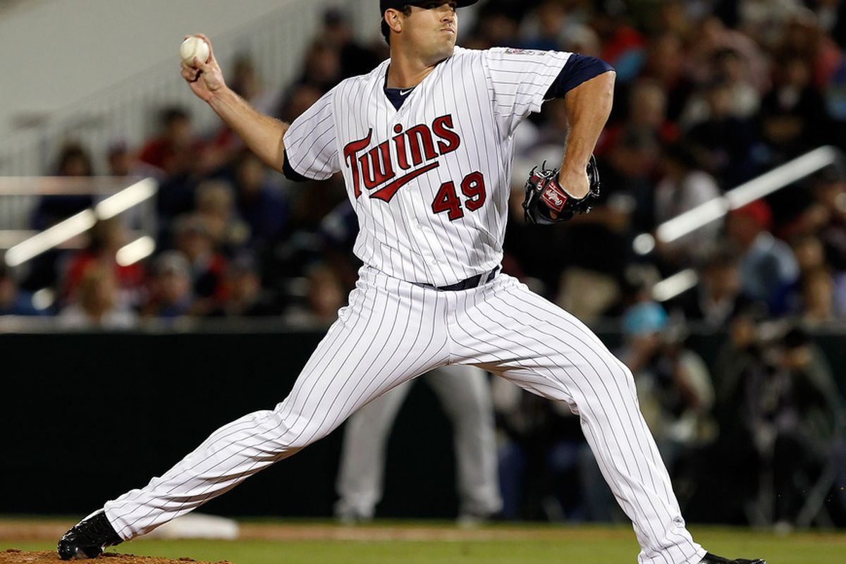 Jeff Manship, pitching fourth today, has a fringe chance to make the 25-man roster out of spring training. He's had stints in Minnesota over the last three seasons.