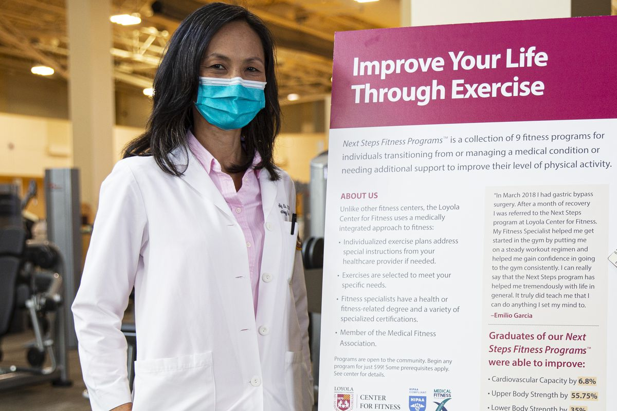 Loyola University Medical Center oncologist Dr. Shelly Lo refers her breast cancer patients to physical therapists to help them regain strength and mobility.