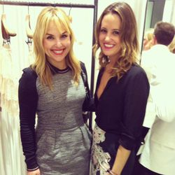 WhoWhatWear's Hillary Kerr with guest. Kerr says that there are some very, very exciting things coming from WWW soon. Stay tuned!